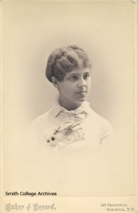 A young Annie Smith Peck. Photograph by Epler and Arnold, n.d. College Archives Image Gallery, Mortimer Rare Book Room, Smith College, Northampton, MA. http://www.smith.edu/libraries/libs/archives/gallery/biography.htm